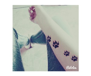 beautiful, paw, and tattoo image