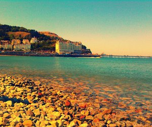 beach, chill, and conwy image