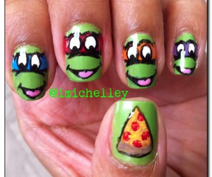 nails, pizza, and turtles image
