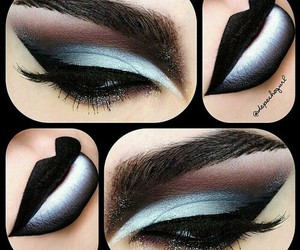 black, makeup, and eye makeup image