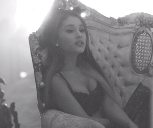 black and white, love me harder, and cat ears image