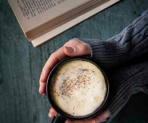 book, coffee, and inspiration image