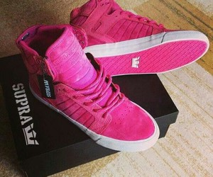 supra, pink, and shoes image
