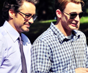 chris evans, robert downey jr, and the avengers image
