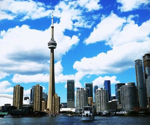 city, sky, and toronto image