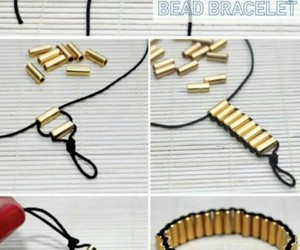 bead, bracelet, and gold image
