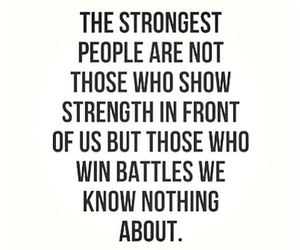 quote, strong, and battle image