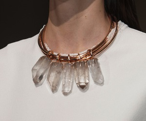 fashion, crystal, and necklace image