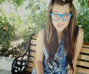 blue, girl, and glasses image