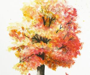 autumn, draw, and tree image
