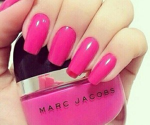 nails, pink, and marc jacobs image