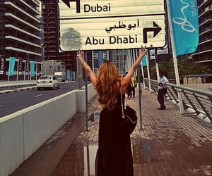 Dubai, girl, and abu dhabi image