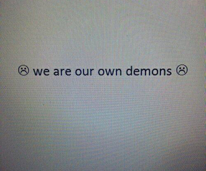 demons, grunge, and quote image