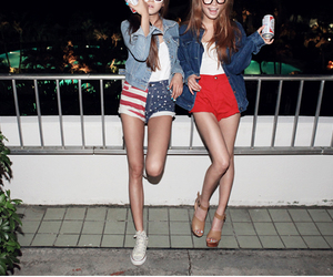 american flag, fucking hipsters, and fashion image