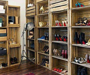 shoes, closet, and diy image