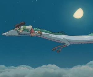 chihiro, dragon, and haku image