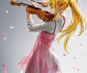 anime, violin, and shigatsu wa kimi no uso image