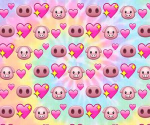 emoji, pig, and wallpaper image