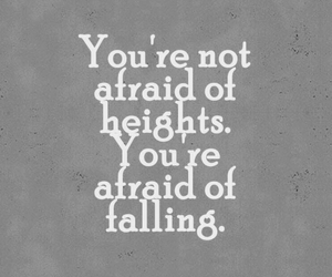 quote, fear, and afraid image