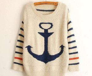 fashion, sweater, and anchor image