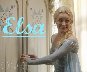 once upon a time, elsa, and frozen image