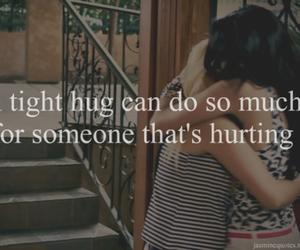 hug, hurt, and quote image