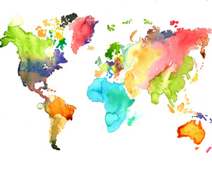 art, beautiful, and continents image