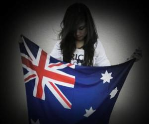 australia, flag, and girl image