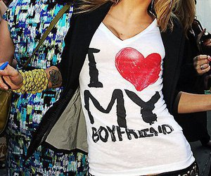 love, boyfriend, and t-shirt image