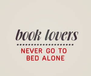 book, bed, and alone image