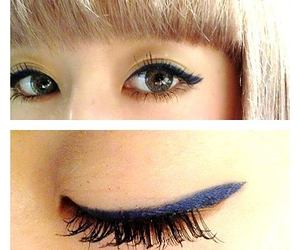 dark blue, makeup, and navy image