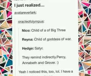 boo, satyr, and percy jackson image
