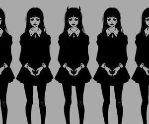 black, Devil, and goth image