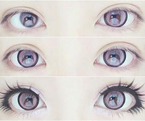 eyes, makeup, and kawaii image