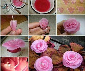 diy, rose, and candle image