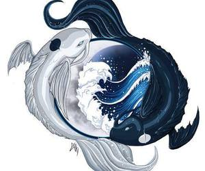 avatar, koi fish, and water image
