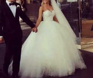 couple, wedding, and cute image