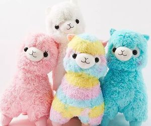 kawaii, pink, and plushies image