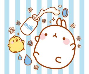 milk, molang, and cute image