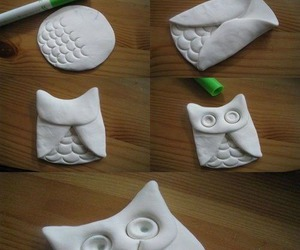 owl, clay, and diy image