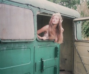 adorable, blonde, and bus image