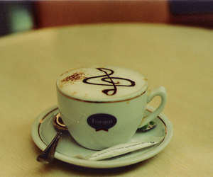 music, coffee, and drink image