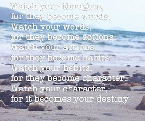 beach, inspiring, and quote image