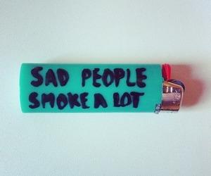 smoke, sad, and people image