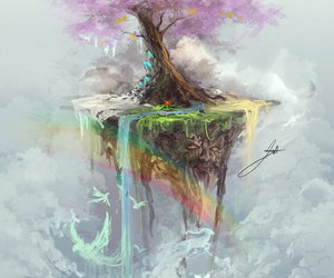 tree and rainbow image