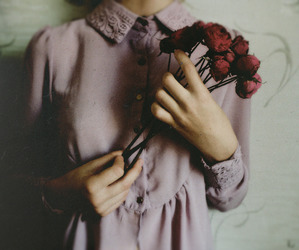 rose, girl, and vintage image