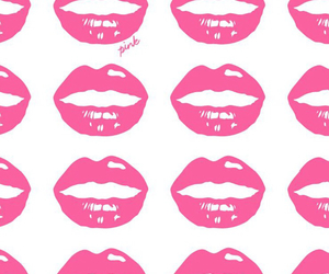 pink, lips, and wallpaper image