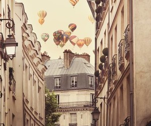 balloons, paris, and vintage image