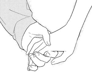 manga, couple, and hands image