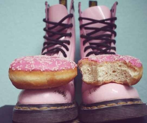 pink, shoes, and donuts image